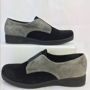 VANELI Alfi Loafers Grey/Black Comfort  Slip-on